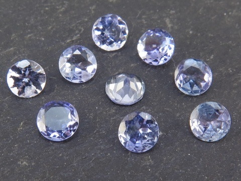 Tanzanite Faceted Round ~ Various Sizes