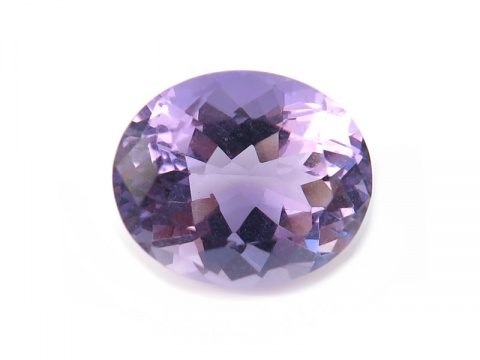 Brazilian Amethyst Faceted Oval 12mm x 10mm