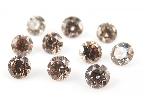 Champagne Diamond Faceted Round ~ Various Sizes