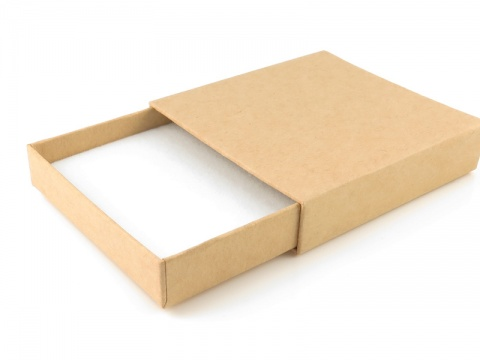 Pull Out Box with Foam Insert ~ Natural ~ 75mm x 75mm