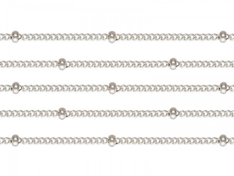 Sterling Silver Satellite Chain 1.5 x 1.2mm (16mm ball spacing) ~ by the Foot