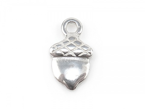 Sterling Silver Acorn Charm 9.5mm
