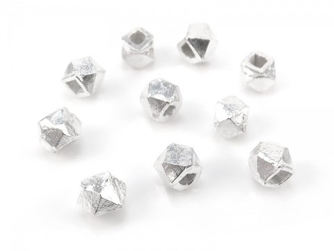 Sterling Silver Faceted Square Bead ~ Various Sizes