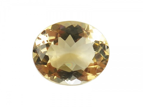 Citrine Faceted Oval 12mm x 10mm