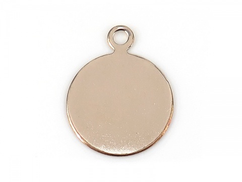 Gold Filled Round Tag/Disc 13mm ~ Optional Engraving