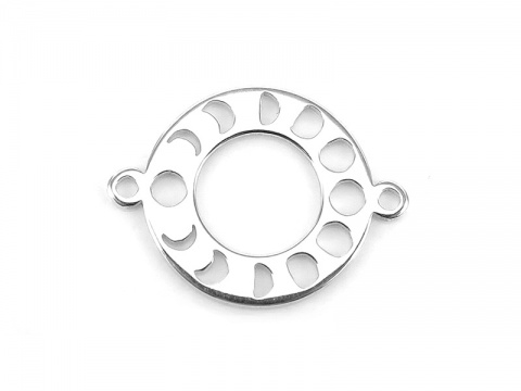 Sterling Silver Lunar Cycle Connector 13mm