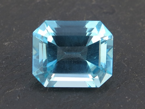 Sky Blue Topaz Faceted Octagon 12mm x 10mm