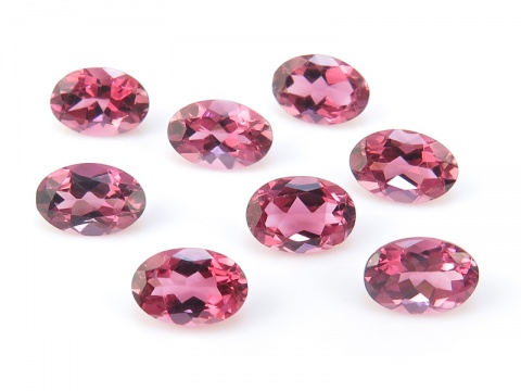 Pink Tourmaline Faceted Oval ~ Various Sizes