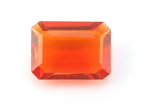 Fire Opal Faceted Octagon ~ Various Sizes