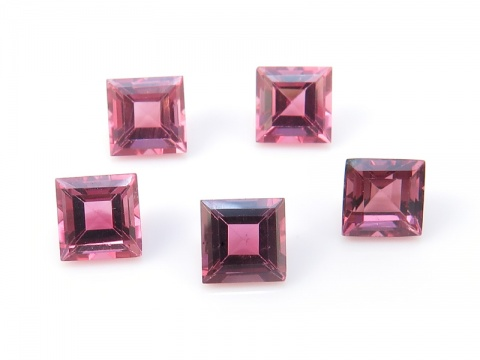 Pink Tourmaline Faceted Square ~ Various Sizes