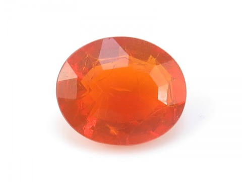 Fire Opal Faceted Oval 11mm x 9mm
