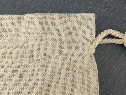 Linen Bag ~ Natural ~ 8cm x 10cm
