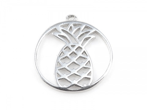 Sterling Silver Pineapple Pendant 14mm