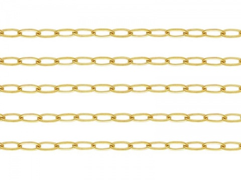 Gold Filled Flat Cable Chain 3.4mm x 1.7mm ~ by the Foot