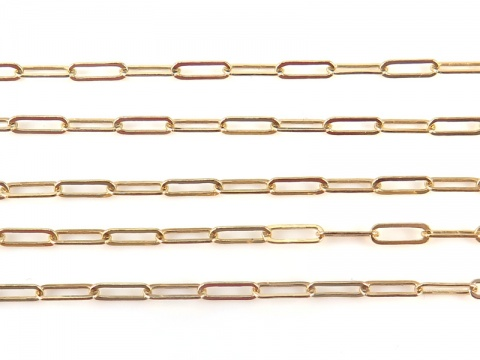 Gold Filled Drawn Cable Chain 5.5mm ~ by the Foot