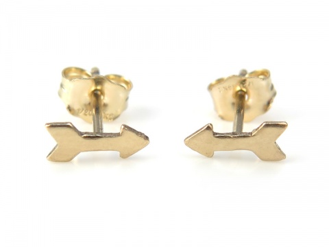 Gold Filled Arrow Ear Studs ~ PAIR