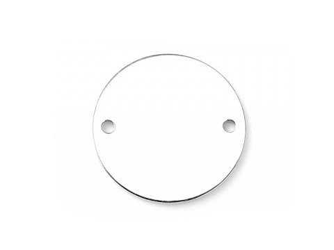 Sterling Silver Circle Tag Connector 14.5mm