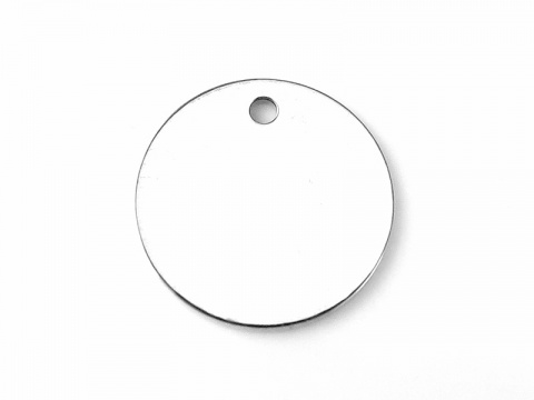 Sterling Silver Round Tag 10mm (Thick) - Optional Engraving