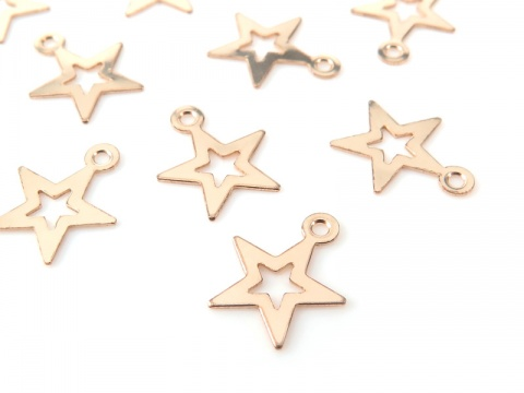 Gold Filled Open Star Charm 10mm