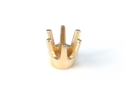 14K Gold Round Prong Setting 4mm