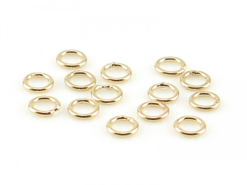 14K Gold Closed Jump Ring 3mm ~ 24g