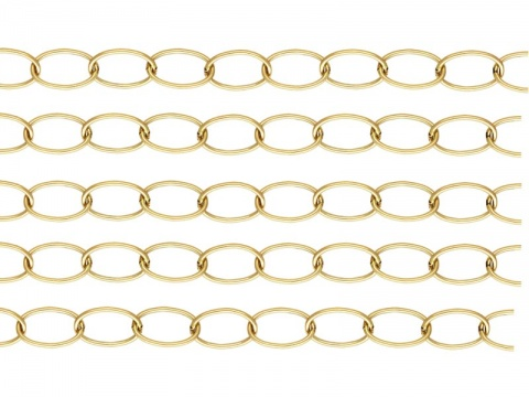 Gold Filled Cable Chain 10mm x 6.5mm ~ Offcuts