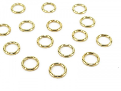 Gold Vermeil Open Jump Ring 4mm ~ 22ga ~ Pack of 10