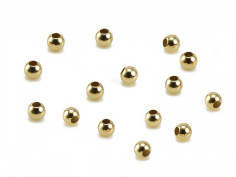 14K Gold Round Bead 2.5mm