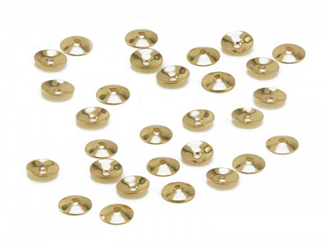 14K Gold Bead Cap 3mm
