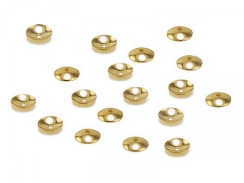 14K Gold Bead Cap 4mm
