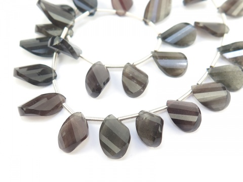 AA Scapolite Faceted Twisted Pear Briolettes 10-13mm