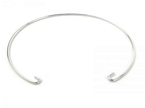 Sterling Silver Interchangeable Bracelet (Rounded) ~ 7''
