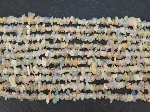Ethiopian Opal Chip Beads ~ 34'' Strand