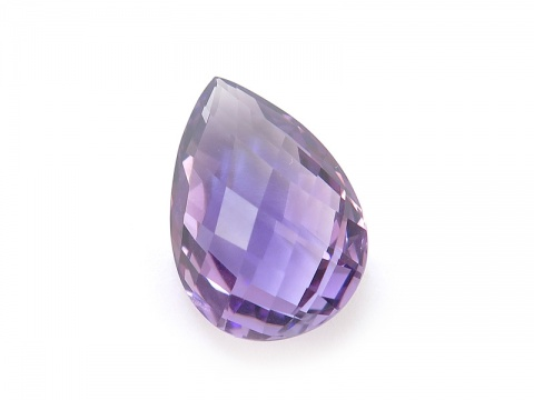 Amethyst Double Sided Faceted Pear ~ Various Sizes