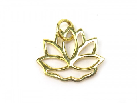 Gold Vermeil Lotus Pendant 13mm