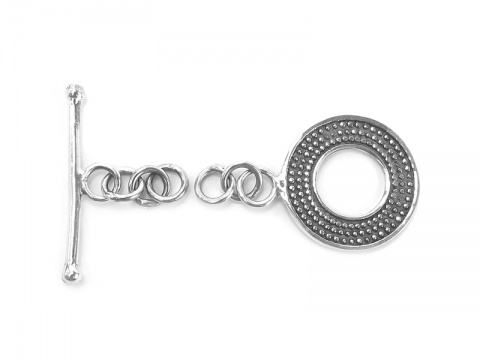 Sterling Silver Decorative Toggle and Bar Clasp 15mm