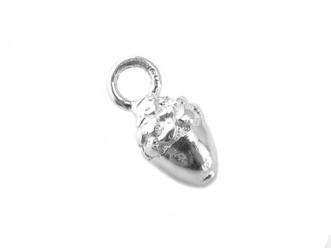 Sterling Silver Acorn Charm 10mm