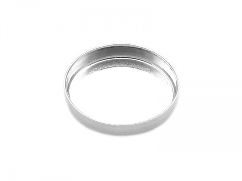 Sterling Silver Oval Bezel Cup Setting 12mm x 10mm
