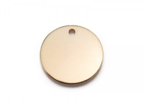 Gold Filled Round Tag 11mm (Thick) ~ Optional Engraving