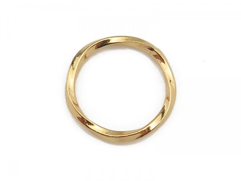 Gold Vermeil Twisted Closed Jump Ring 12.5mm ~ 18ga