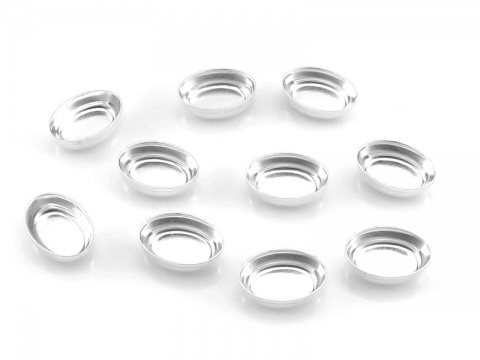 Sterling Silver Oval Bezel Cup Setting 6mm x 4mm