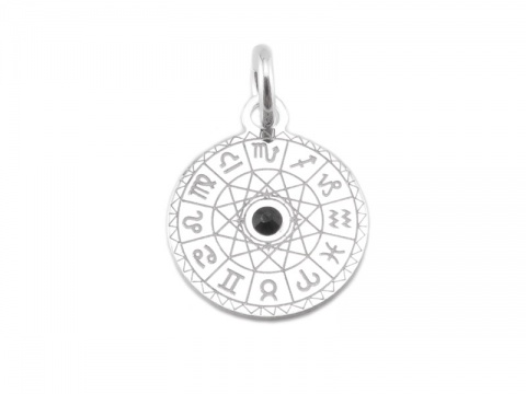 Sterling Silver Horoscope Charm 11mm