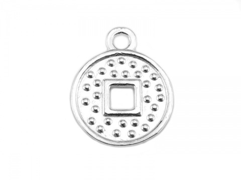 Sterling Silver Cut Out Coin Charm 11mm