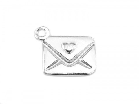 Sterling Silver Love Letter Charm 10mm
