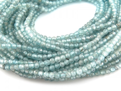 AAA Blue Zircon Faceted Rondelle Beads 2mm ~ 13'' Strand