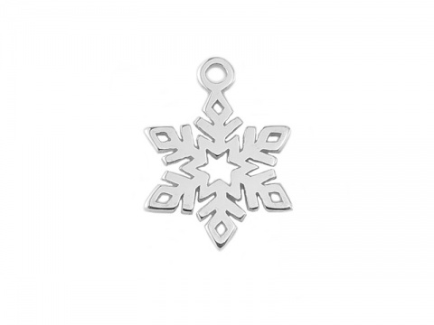 Sterling Silver Snowflake Charm 12mm