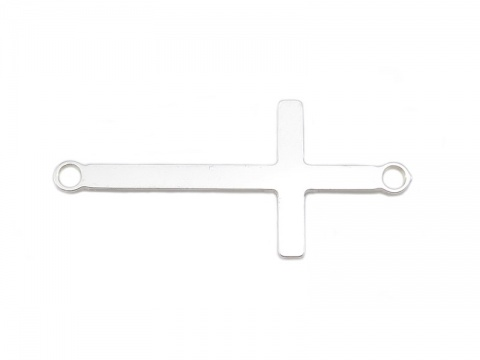 Sterling Silver Cross Connector 30mm