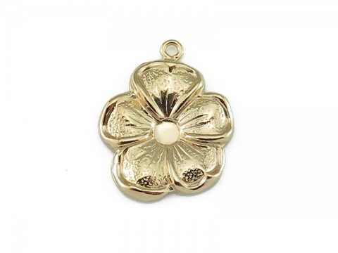 Gold Filled Flower Charm 14mm