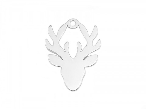 Sterling Silver Stag Pendant 15mm