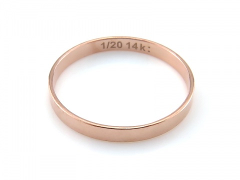 Rose Gold Filled Flat Ring ~  Size L